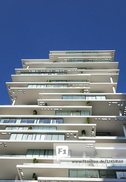 Modern high rise luxury apartment buildings   The Terraces  in central Beirut   Lebanon.
