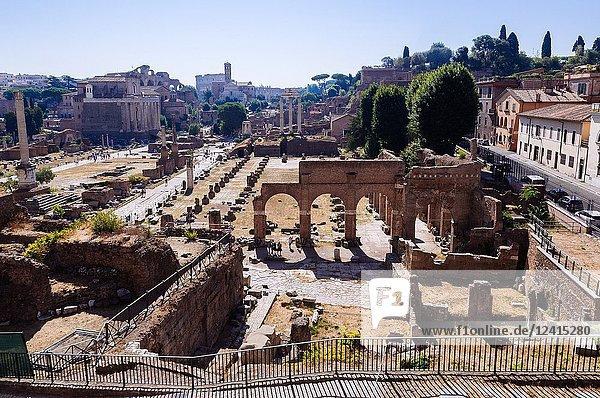 The Roman Forum  Rome  Lazio region  Italy.
