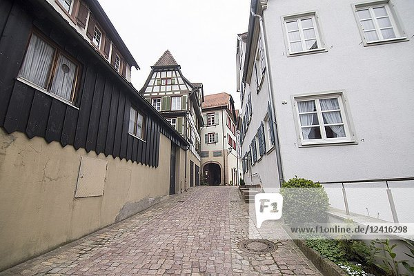 Traditional half-timbered houses located in the historic center of Schiltach  Black Forest  Baden-Wurtemberg  Germany  Europe.