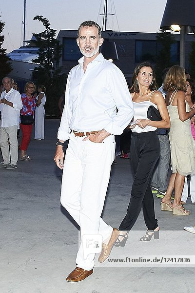 King Felipe VI of Spain  Queen Letizia of Spain  Queen Sofia of Spain  Crown Princess Leonor  Princess Sofia attends Ara Malikian Concert at Porto Adriano on August 2  2018 in Mallorca  Spain