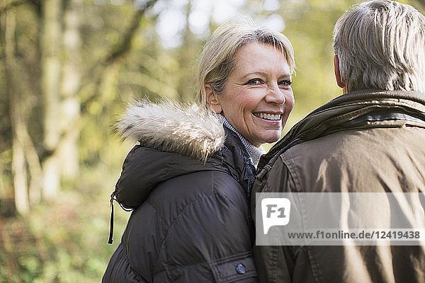 Portrait smiling  confident mature couple
