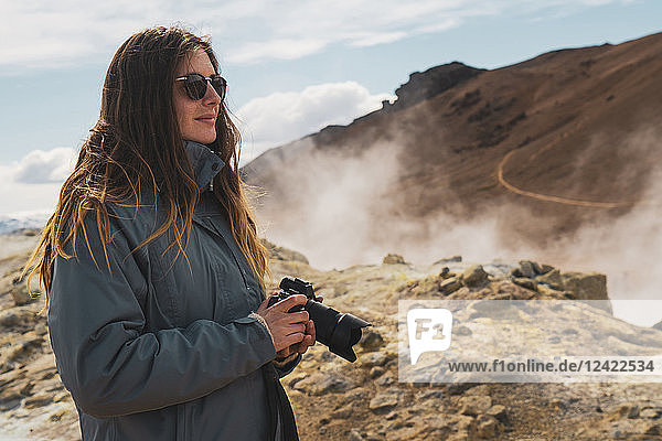 Iceland,  Hverarond field,  female photographer