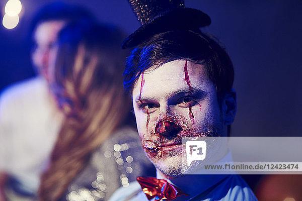 Portrait of man in creepy Halloween costume Portrait of man in creepy Halloween costume