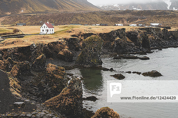 Iceland  North of Iceland  houses near the coast