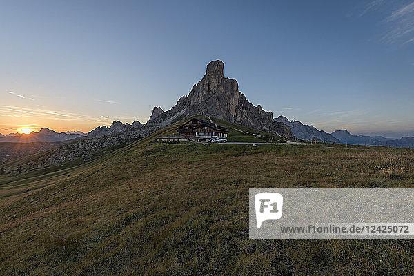 Italy  Alps  Dolomites  Passo di Giau at sunrise
