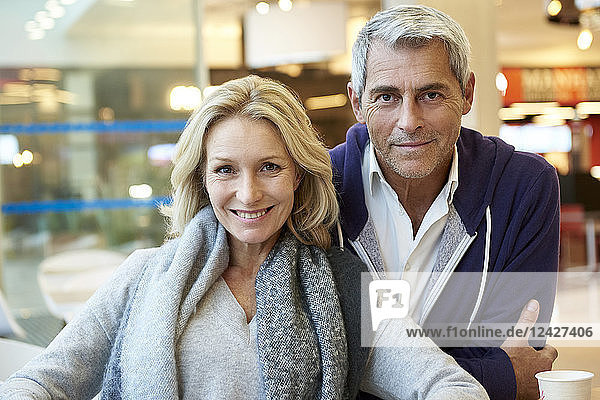 Couple sitting in café