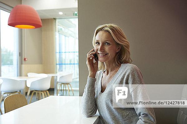 Woman talking on smart phone