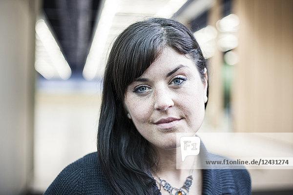 Portrait of a young Caucasian businesswoman