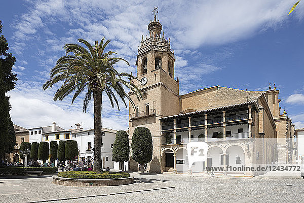 Iglesia de Santa Maria la Mayor in the Plaza Duquesa de Parcent (Town Hall Square)  Ronda  Andalucia  Spain  Europe