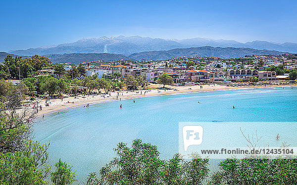 View of Agioi Apostoloi Beach  Crete  Greek Islands  Greece  Europe