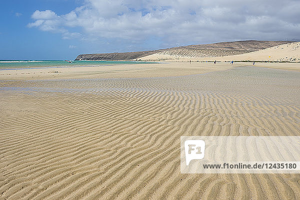 Beautiful lagoon on Risco Beach  Fuerteventura  Canary Islands  Spain  Atlantic  Europe