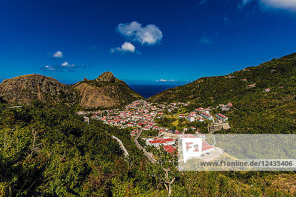 Scenery in Saba  a Caribbean island  the smallest special municipality of the Netherlands  Caribbean  Central America