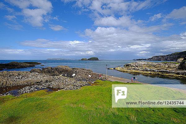 Ballintoy Harbour  Ballycastle  County Antrim  Ulster  Northern Ireland  United Kingdom  Europe