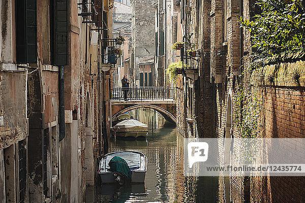 Canal  Venice  UNESCO World Heritage Site  Veneto Province  Italy  Europe