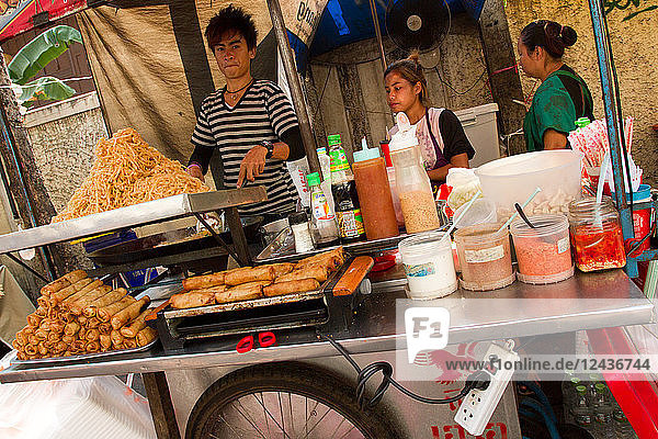 Food on the streets of Bangkok  Thailand  Southeast Asia  Asia