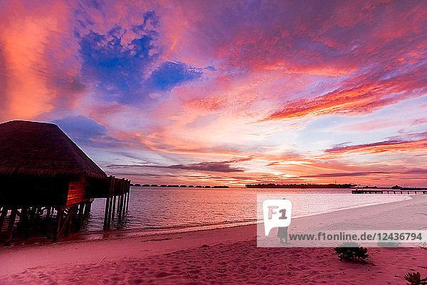 Beautiful scenery at Conrad Maldives Rangali Island  Maldives  Indian Ocean  Asia
