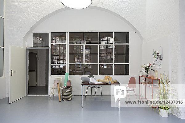 Interior of an architect's loft office