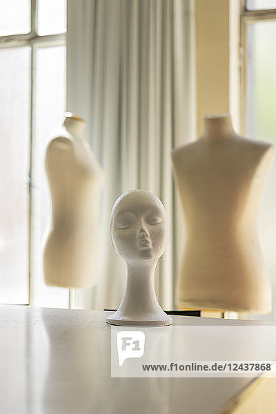 Dressmaker's models in fashion designer's studio Dressmaker's models in fashion designer's studio
