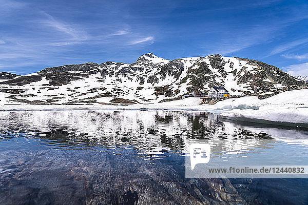 Switzerland  Valais  Bernese Alps  Lake Toten