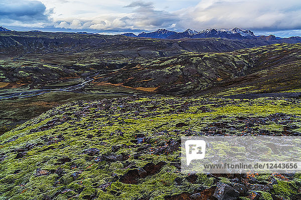 A view of the highlands of Iceland along the South coast