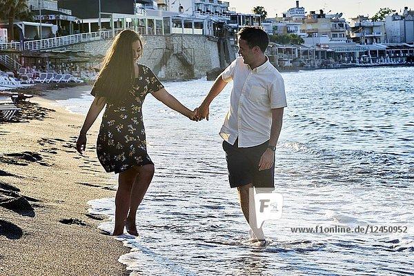 Greece  Crete  Hersonissos  couple