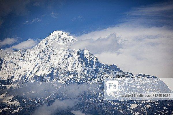 Annapurna South from Ghandruk. Annapurna trek. Nepal.