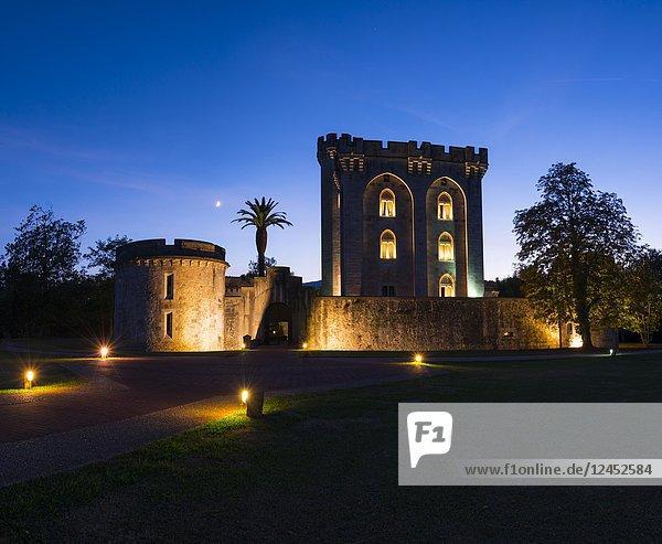 The Castillo de la Emperatriz Eugenia de Montijo  Castle in the village of Arteaga  Urdaibai Biosphere Reserve  Bizkaia  Basque Country  Spain  Europe.
