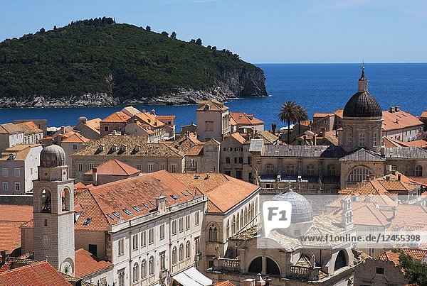 The rooftops of Dubrovnik's Old Town  Dubrovnik  Croatia  Europe.