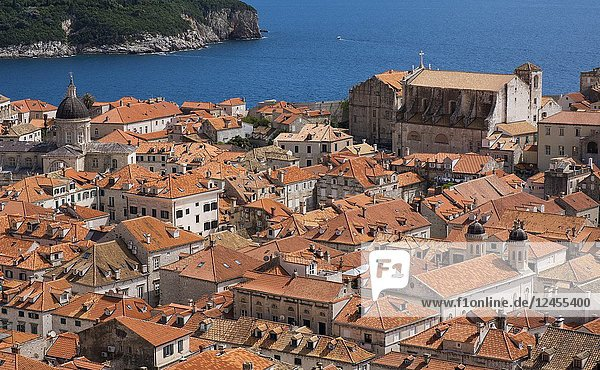 The rooftops of Dubrovnik's Old Town  Dubrovnik  Croatia  Europe.