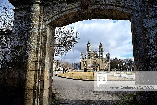 Basilica of Our Lady of Os Milagros  between Baños de Molgas and Maceda  Orense province  Spain.