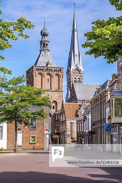 City Gate Tower in Culemborg  the Netherlands  Europe.