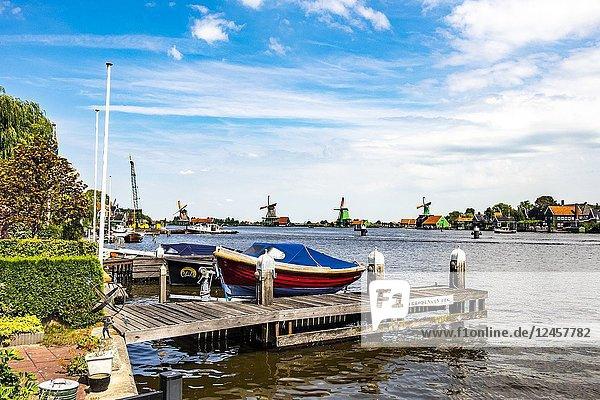 Zaanse Schans  North-Holland  the Netherlands  Europe.