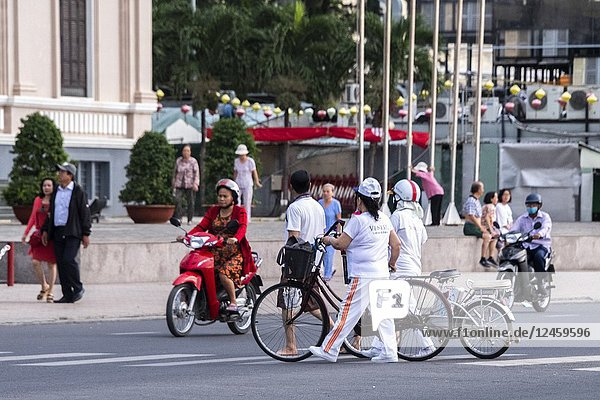 Typical traffic in Nha Trang  Vietnam  Asia