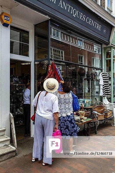 Two Women Shopping In Lewes  Sussex  UK.