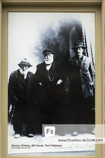 Historic photograph at the North Otago Museum,  Oamaru,  Otago,  South Island,  New Zealand.