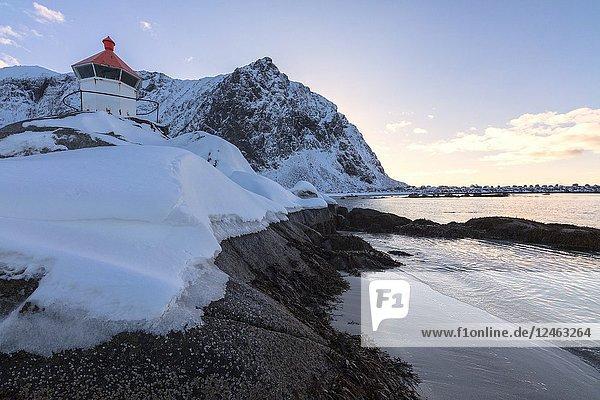 Lighthouse  Eggum  Vestvagoy  Lofoten Islands  Norway.