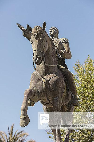 Equestrian statue of Simon Bolivar in Cadiz  Spain