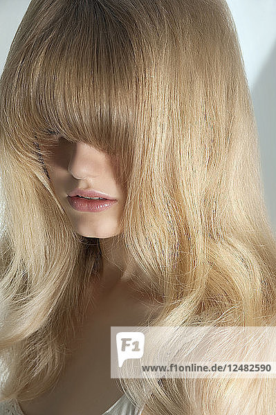 Young woman with fringe
