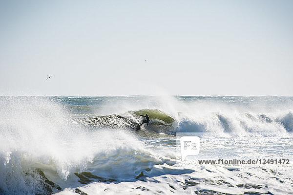 Winter Surfing In Narragansett  Rhode Island