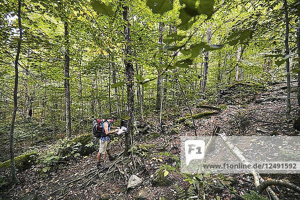 A Man Registering At Appalachian Trail