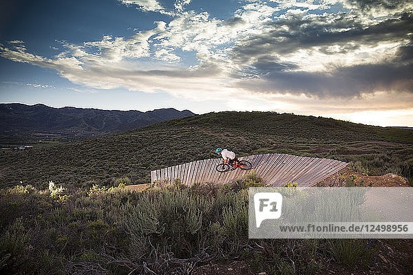 Mountain biking Trailside Bike Park in Park City  Utah