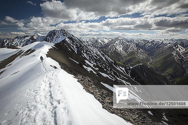 Snow Covered Mountain Region Of King's Throne  Kluane National Park  Yukon