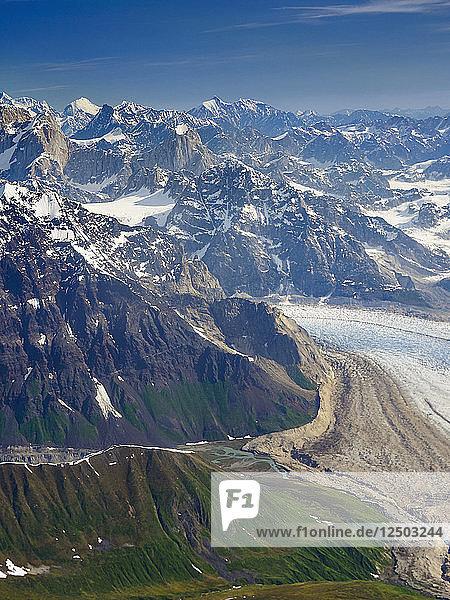 Mountain Landscape At Denali National Park  Alaska