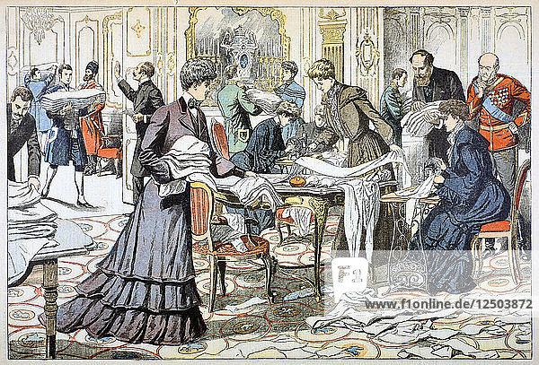 Workroom in the Winter Palace  St Petersburg  1904. Artist: Anon