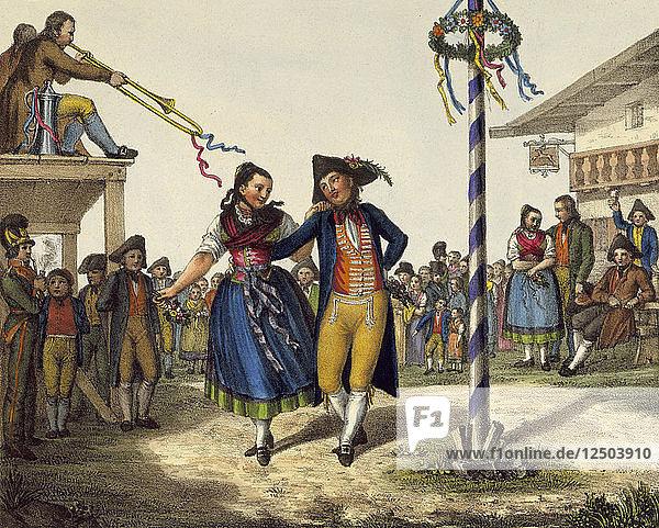 Popular festivities  mid 19th century. Artist: Anon