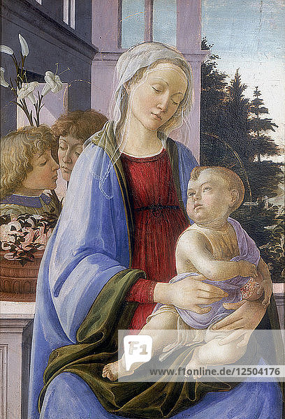 The Virgin and Child with Two Angels  1472-1475. Artist: Filippino Lippi