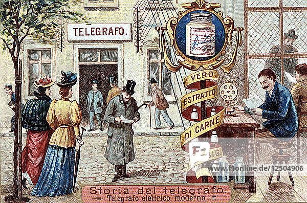 Telegraph office  c1900. Artist: Unknown