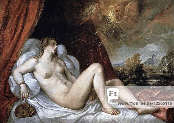 Danae  16th century. Artist: Titian