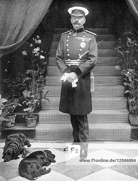 Horatio Herbert Kitchener (1850-1916)  Irish-born British soldier and statesman. Artist: Unknown