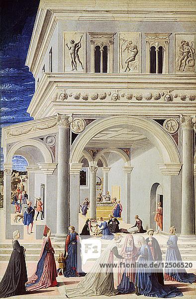 The Birth of the Virgin  1467. Artist: Fra Carnevale